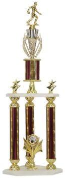 3 POST 2 TIER BOWLING TROPHY
