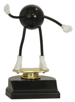 BENDABLE BOWLING DUDE TROPHY