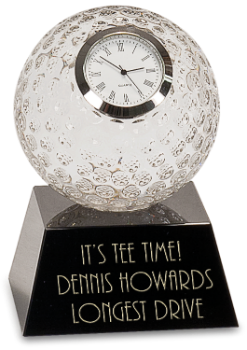 CRYSTAL GOLF BALL WITH CLOCK