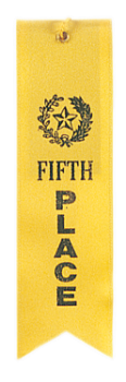 5TH PLACE YELLOW CARDED RIBBON