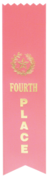 4TH PLACE PINK PINKED TOP RIBBON