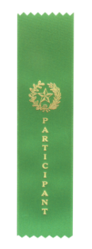 PARTICIPANT GREEN PINKED TOP RIBBON