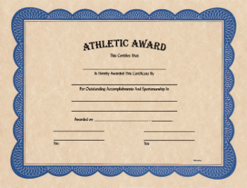 ATHLETIC AWARD