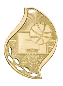 BASKETBALL FLAME SPORT MEDAL