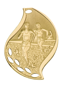 CROSS COUNTRY FLAME SPORT MEDAL