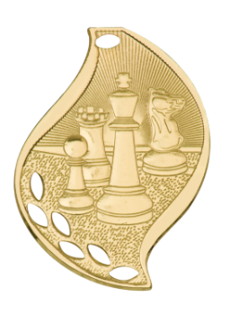 CHESS ACADEMIC FLAME MEDAL