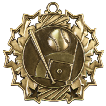 BASEBALL TEN STAR SPORT MEDAL