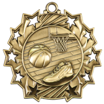 BASKETBALL TEN STAR SPORT MEDAL