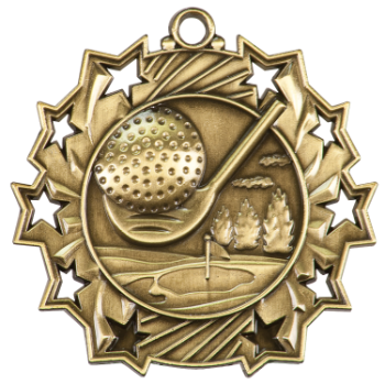 GOLF TEN STAR SPORT MEDAL