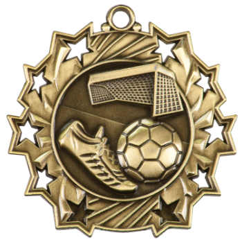 SOCCER TEN STAR SPORT MEDAL