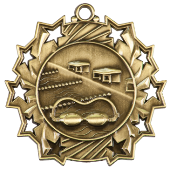 SWIMMING TEN STAR SPORT MEDAL