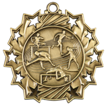 TRACK & FIELD TEN STAR SPORTS MEDAL