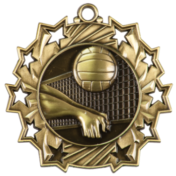 VOLLEYBALL TEN STAR SPORT MEDAL