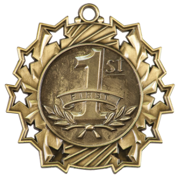 1ST PLACE TEN STAR MEDAL