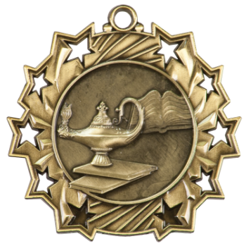 LAMP OF KNOWLEDGE TEN STAR ACADEMIC MEDAL