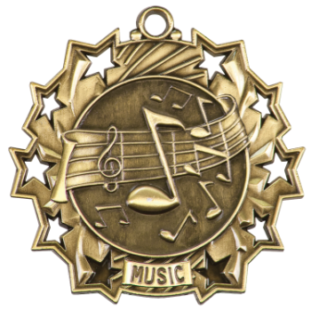 MUSIC TEN STAR ACADEMIC MEDAL