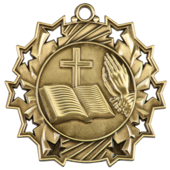 RELIGIOUS TEN STAR ACADEMIC MEDAL