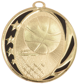 BASKETBALL MIDNITE STAR MEDAL