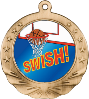 BASKETBALL MOTION MEDAL