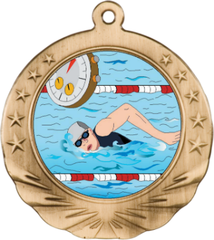 SWIMMING MOTION MEDAL
