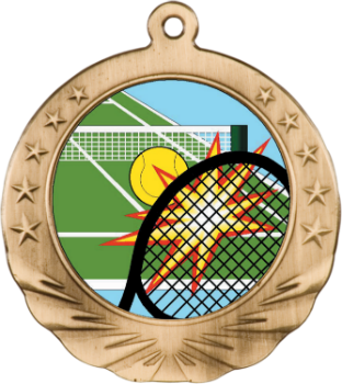 TENNIS MOTION MEDAL