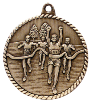 CROSS COUNTRY HIGH RELIEF MEDAL