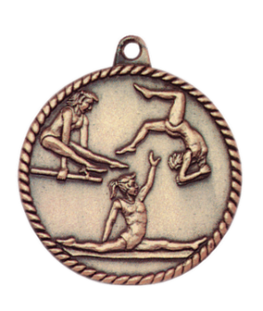 FEMALE GYMNASTICS HIGH RELIEF MEDAL