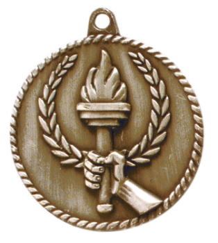 TORCH HIGH RELIEF MEDAL