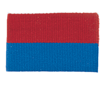 RED/BLUE NECK RIBBON WITH SNAP CLIP