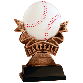 Baseball Ribbon Resin