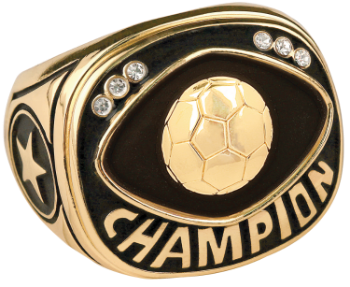 Gold Soccer Champion Ring