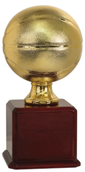 Bright Gold Basketball Trophy