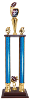 Custom Graphic 4-Post Football Trophy