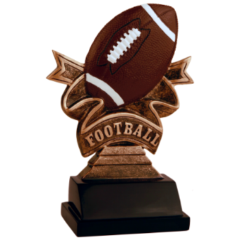 Football Ribbon Resin Award