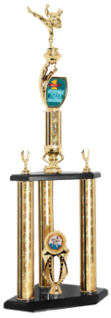 Custom Graphic 3-Post Martial Arts Trophy