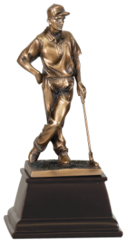 Bronze Female Golfer Resin Award
