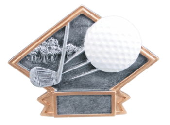 Small Diamond Plate Golf Award