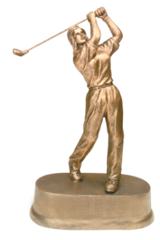 Antique Gold Female Golf Resin