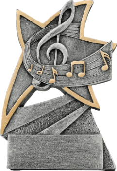 Music Jazz Star Resin Award