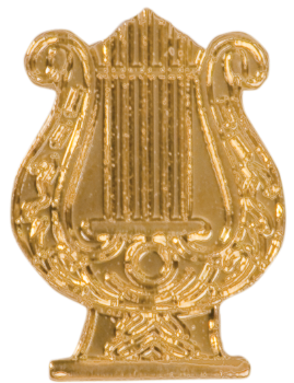Music Lyre Chenille Pin