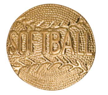 Softball Chenille Pin