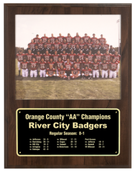 Cherry Finish Slide-In Plaque with 8 x 10 Photo