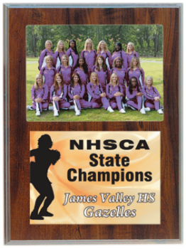 Cherry Finish Plaque with 3 1/2 x 5 Photo