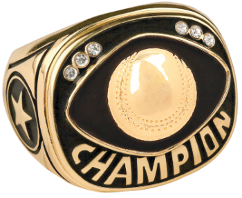 Gold Baseball/Softball Champion Ring