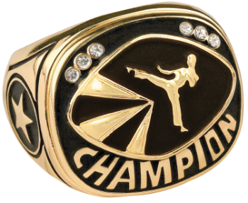 Gold Martial Arts Champion Ring