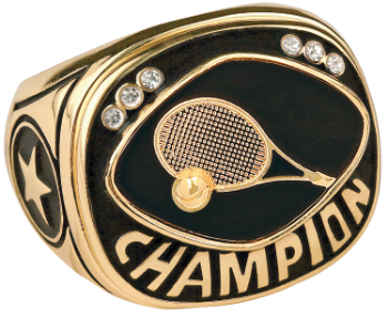 Gold Tennis Champion Ring