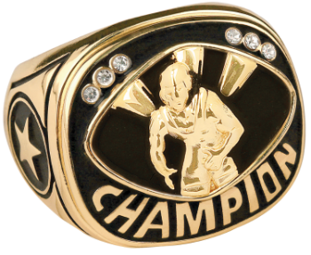 Gold Wrestling Champion Ring