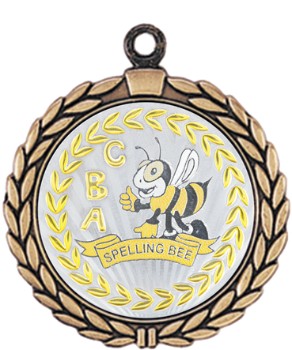 Metallic Spelling Bee Medal