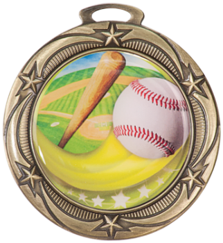 Baseball Epoxy Dome Medal