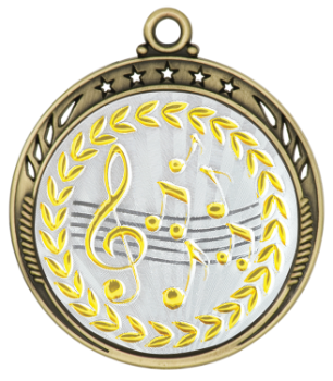 Metallic Music Medal